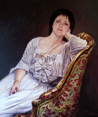 Romanian countess. Oil.