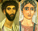 Fayum portrait of man and woman. Egypt.