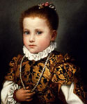 Portrait painted on the period of Renaissance.